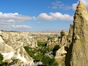Stunning views over Goreme in Cappadocia