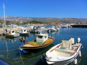 Village of Karfas on Chios Island in Greece